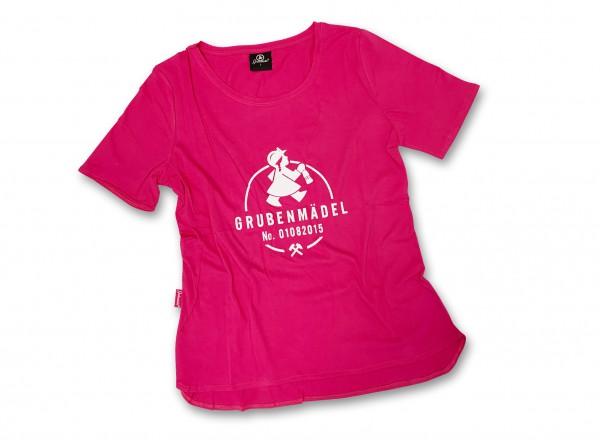 """Grubenmädel T-Shirt """"Stollen-Shirt"""" (Rundhals und verlängerte Armel)"""