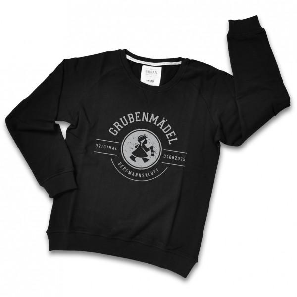 Grubenmädel Sweatshirt (schwarz / grau)