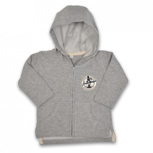 Grubenjunge Sweatshirtjacke (grau)