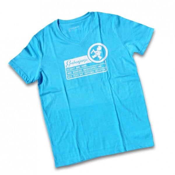 """Grubenjunge T-Shirt """"Getauft inne Ruhr..."""" (cyan)"""