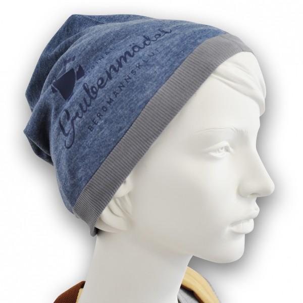 Grubenmädel Mütze Summer-Beanie (blau/dunkelblau)