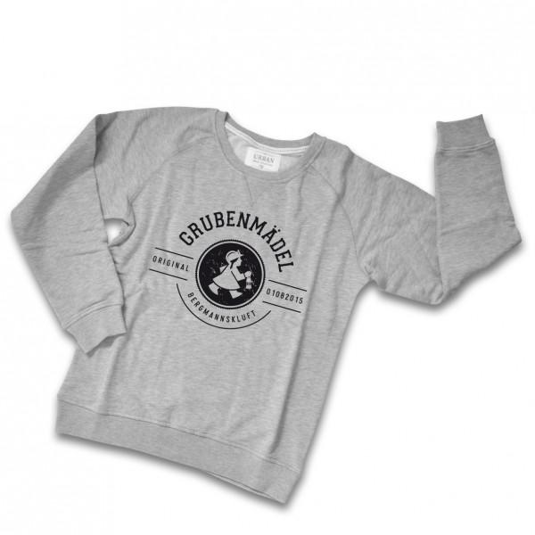 Grubenmädel Sweatshirt (grau / schwarz)