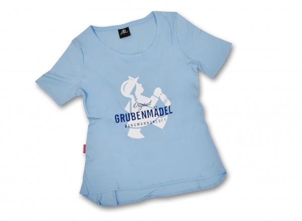 """Grubenmädel T-Shirt """"Stollen-Mädel"""" (Rundhals)"""
