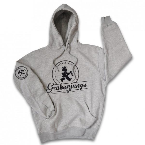 Grubenjunge Kapuzen-Sweatshirt (grau)