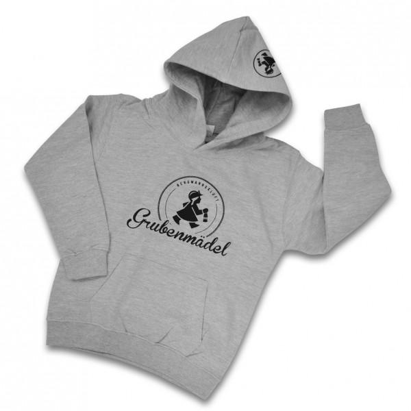 Grubenmädel Kinder-Sweat-Shirt mit Kapuze (grau)