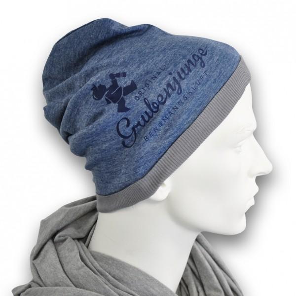 Grubenjunge Mütze Summer-Beanie (blau/dunkelblau)