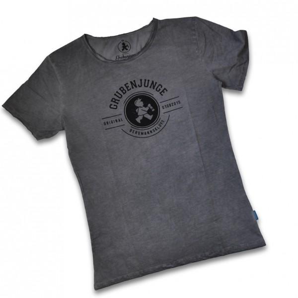 """Grube"" Shirt mit kurzem Arm in dunkelgrau"