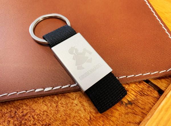 Grubenmädel Schlüsselriemen (schwarz)