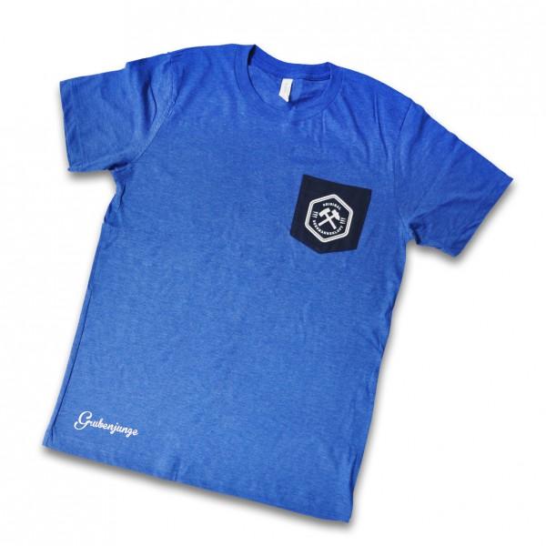 Grubenjungen Shirt mit Brusttasche (blau/dunkelblau)