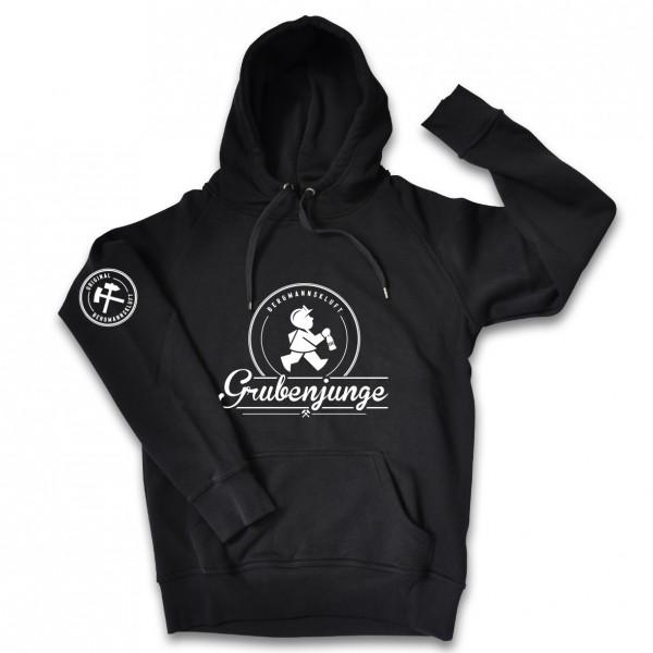 Grubenjunge Kapuzen-Sweatshirt (schwarz)