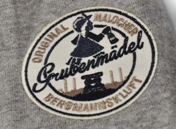 "Kapuzen-Sweatshirt ""Bergknappe-Mädel"" mit Stickemblem"
