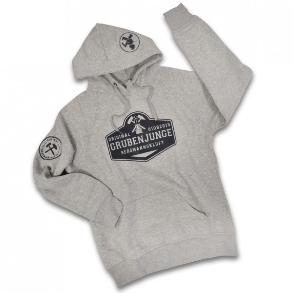 """Grubenjunge Kapuzen-Sweatshirt """"Geleucht"""" (grau)"""