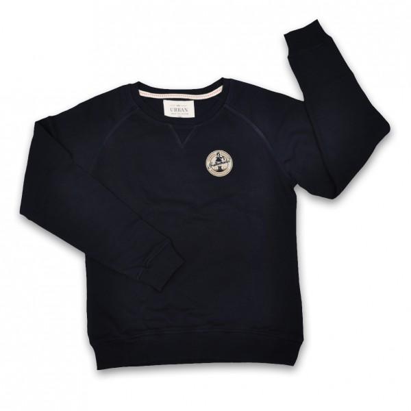 """Abzieherin"" Sweatshirt mit Stickemblem"